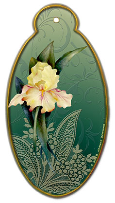 Iris Gift Tag designed by Jeanne Downing