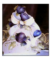 Christmas Plums from Elegance in Blue by Jeanne Downing