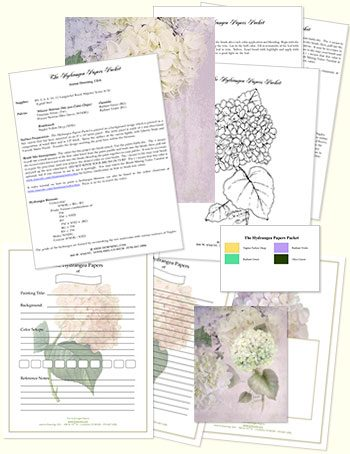 Hydrangea Papers Design Kit by Jeanne Downing