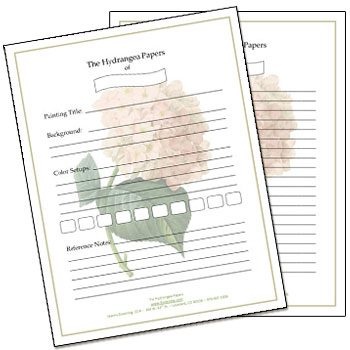 Hydrangea Papers Worksheets