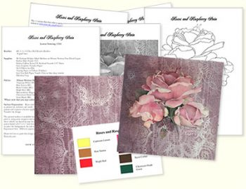 Roses and Raspberry Stain Design Kit by Jeanne Downing