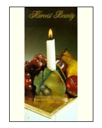 Harvest Bounty Candlestick from Set for Elegance by Jeanne Downing