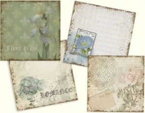 Vintage Romance Collection Set of 4 Backgrounds designed by Jeanne Downing
