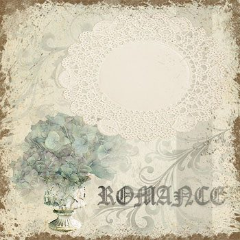 Vintage Romance Hydrangea Background designed by Jeanne Downing