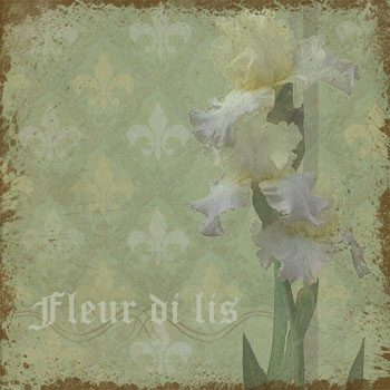 Vintage Romance Iris Background designed by Jeanne Downing