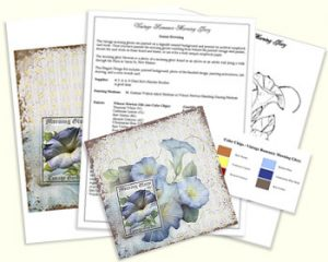 Vintage Romance Morning Glory Design Kit by Jeanne Downing