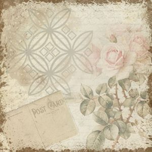 Vintage Romance Rose Background, design by Jeanne Downing