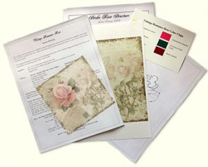 Vintage Romance Rose Design Kit by Jeanne Downing