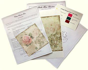 Vintage Romance Rose Design Kit by Jeanne Downing