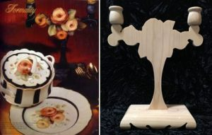 Formality Candelabra Wood from the book, Set for Elegance