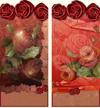 Holiday Roses and Apples Gift Tags designed by Jeanne Downing