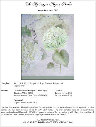 Hydrangea Papers E-Packet by Jeanne Downing