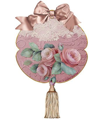 Kissing Ball Gift Tag designed by Jeanne Downing