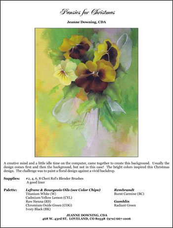Pansies for Christmas E-Packet by Jeanne Downing