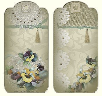 Posh Pansies Gift Tags designed by Jeanne Downing