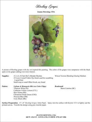 Riesling Grapes E-Packet by Jeanne Downing