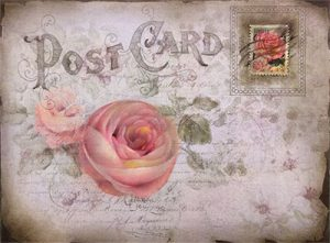 Rose Post Original Art by Jeanne Downing