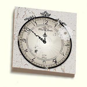 Shabby Chic Clock Artist Panel