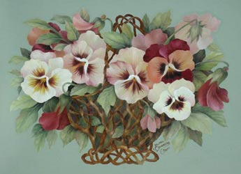 Twigs n' Pansies Packet by Jeanne Downing