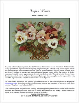 Twigs N Pansies E-Packet by Jeanne Downing