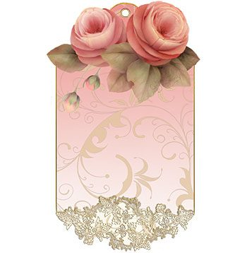 Victorian Rose Lace Gift Tag designed by Jeanne Downing