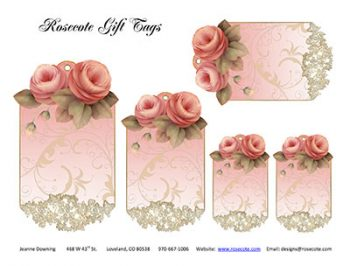 Victorian Roses Lace Gift Tags by Jeanne Downing