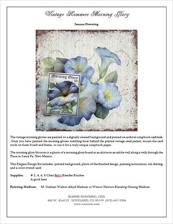 Vintage Romance Morning Glory E-Packet by Jeanne Downing