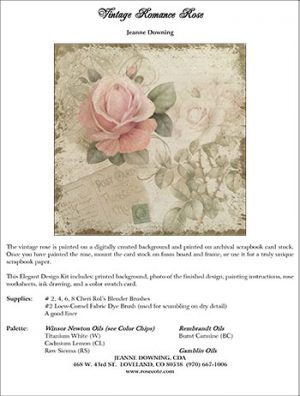 Vintage Romance Rose E-Packet by Jeanne Downing