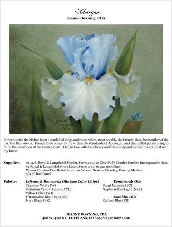 Adoregon Iris E-Packet by Jeanne Downing