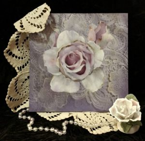 Lacy Shadows Rose by Jeanne Downing