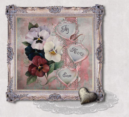 My Heart's Ease Framed by Jeanne Downing