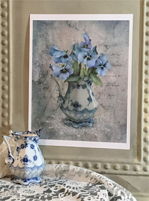 Pansies in the Parlor by Jeanne Downing