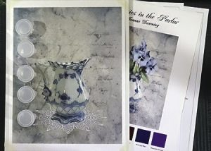 Pansies in the Parlor Painting Kit