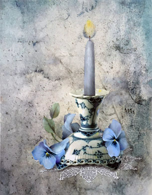 The Parlor by Candlelight by Jeanne Downing